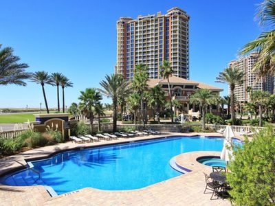 Photo for Ocean view condo with free WiFi, shared hot tub and pool!