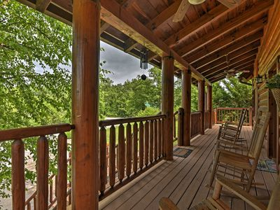 Photo for Sevierville Cabin w/Hot Tub, Deck, & Mtn Views!