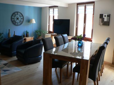 Photo for Beautiful apartment in the heart of the medieval city with parking and parking