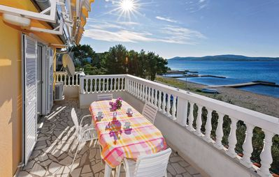 Photo for 4-star apartment by the sea, beach front of the house, ideal for family and kids