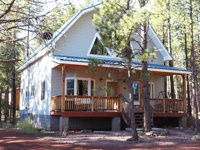 Beautiful home on a treed acre. You will enjoy the open but cozy interior.