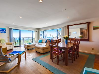 Photo for South Mission Beach Oceanfront Condominium with Ocean & Jetty Views