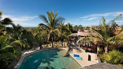 Photo for Oceanview estate with pool .5 min walk to the beach, 10 min from Todos Santos!
