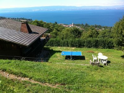 Photo for Large chalet, with stunning lake view, near Evian-les-Bains