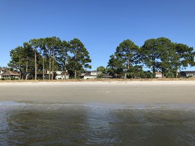 View of the back of the house from the beach