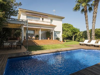 Photo for LUXURY VILLA 19 KM FROM BARCELONA WITH SWIMMING POOL AND GARDEN