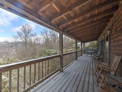 Photo for Boone Cabin on Private Lot w/Deck & Mtn Views!