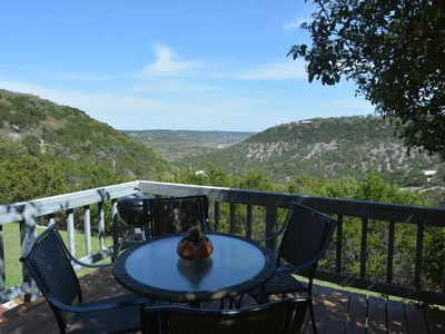 Photo for Perched on the apex of the hills overlooking the Blanco River Valley  *HOT TUB