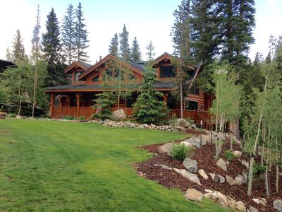 Photo for Exquisite, rustic log home surrounded by 10 Mile Range and rushing Blue River.
