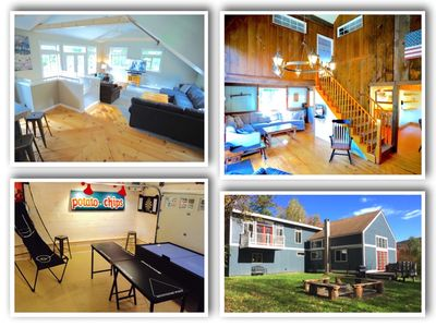 Photo for Secluded 6 Acre Property - Minutes to Mtn Rd  - Game Rm - Hot Tub - Fire Pit