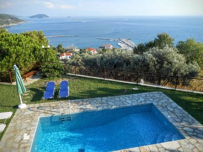 Photo for Beautiful Villa With Private Pool- Sea Views -Near To Beach and Village