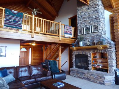 Photo for Spacious Mountain Cabin with Magnificent Views