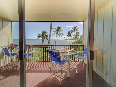 Photo for Oceanfront!  Hear the waves and watch the surf from your lanai!
