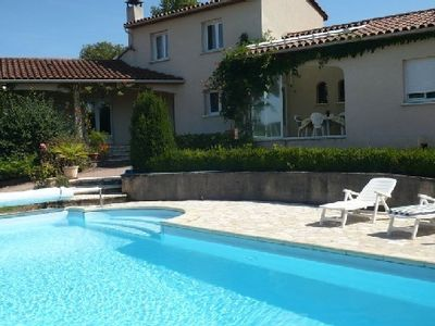 Photo for CONTEMPORARY VILLA OF 170M2 ON GROUND OF 5000M * OVERLOOKING FIGEAC