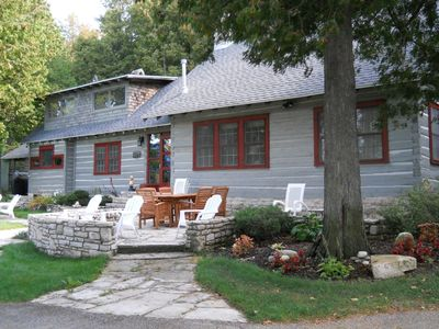 Photo for Classic 1927 Shore Log Home. Sleeps 8. Enjoy water views from 7 of 9 rooms!