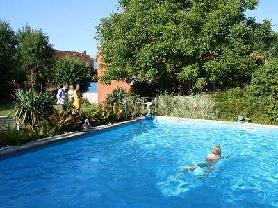 Photo for Sehlendorf beach; Pool - south balcony - quiet - family friendly - garden