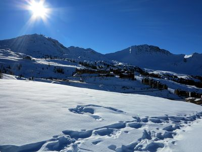 Photo for Flat  Plagne Village - Close to the skiing slopes (50 meters) - 5 - 6 persons