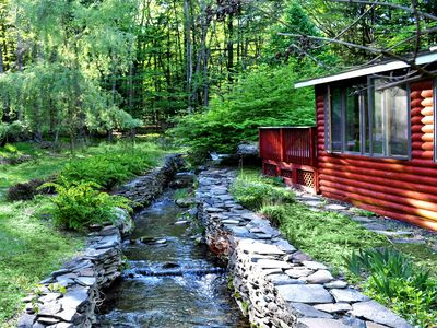 Photo for Three Bridges Modern Rustic, 3 Streams, 4 Acres, Quiet Pet-Friendly Retreat