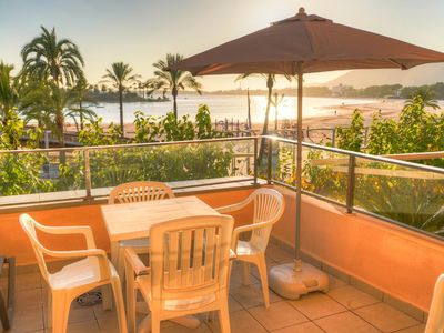 Photo for Beautiful apartment Sunset Boulevard in Alcudia right on the port. Here you can go on vacation for 4 persons.