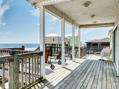 Photo for NEW LISTING! Waterfront beach cottage w/full kitchen, deck & easy beach access