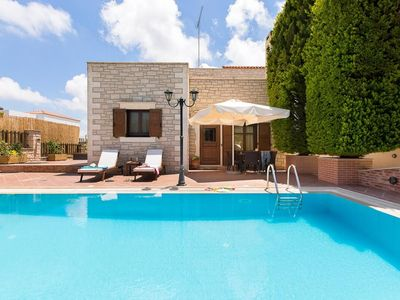 Photo for Villa Esmeralda - Stunning 4-bedroom villa with excellent facilities, private pool and BBQ near Rethymno in Crete! - Free WiFi