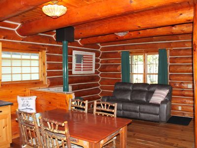Photo for Quaint Log Home on Manistee Lake
