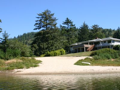 Photo for A Large Private Home That Sleeps Up To 18 Situated On Its Own Lake.