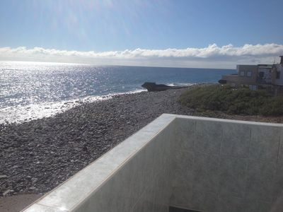 Photo for House on the beach in the quiet coastal village of las maretas
