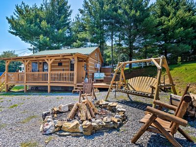 Photo for NEW! Log Cabin w/Fire Pit & Deck on Cherokee Lake!