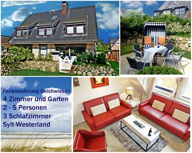 Photo for Modern 4-room apartment in Westerland / Sylt with garden for 4-5 persons