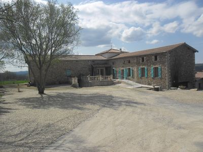 Photo for Renovated farmhouse with heated pool