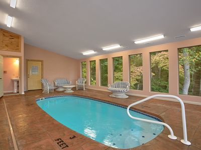 Smoky Mountain Private Indoor Pool Cabin   Enjoy Your Own Personal Swimming  Pool In This Smoky