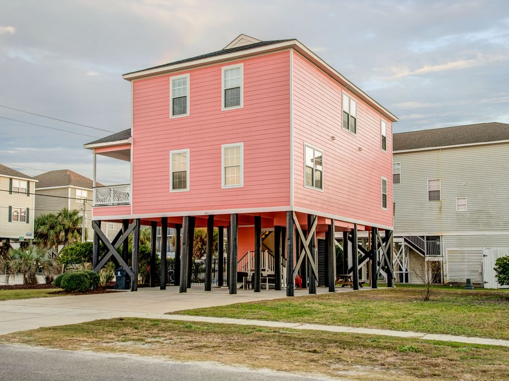 6br Garden City House Across From Beach 12 Beds Garden City Beach Myrtle Beach Grand Strand