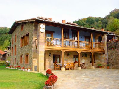 Photo for Cozy apartment with pool and private porch in Cantabria (Picos de Europa)