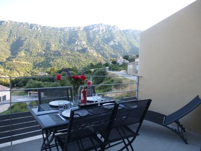 Photo for A recent comfortable cottage with exceptional views of the Cathar castles