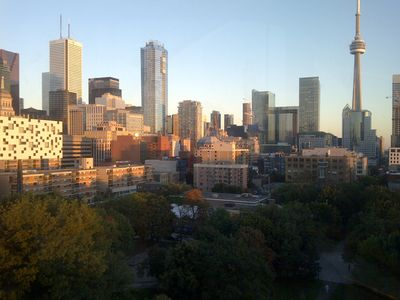 A historic tree lined street, parking,  the CN tower, walk to TIFF & our Toronto