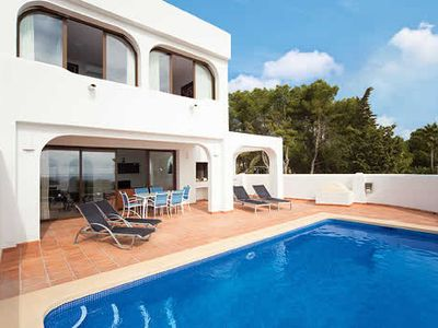 Photo for Modern villa within a complex w/ private pool, communal pool, centre of resort short drive