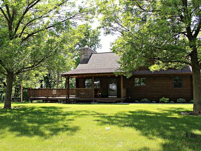 Photo for Cozy log cabin located outside of Fort Atkinson, Iowa