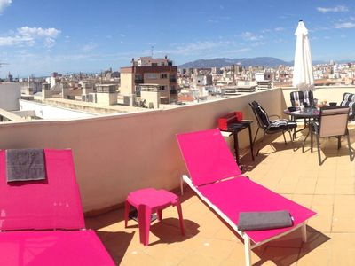 Photo for Private Terrace Views Penthouse AC 70sqm 1BR