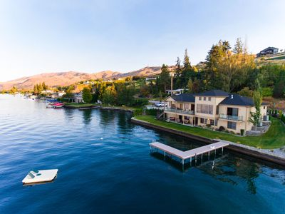 Photo for Beautiful Lake Chelan Luxury Waterfront Home with Private Dock and Boat Lift!