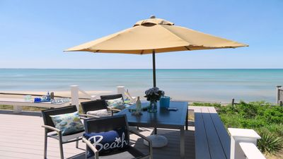 Photo for Bay Dream - Beach Front! Brand New Home steps to the beach -Central Air! Gorgeous Views.