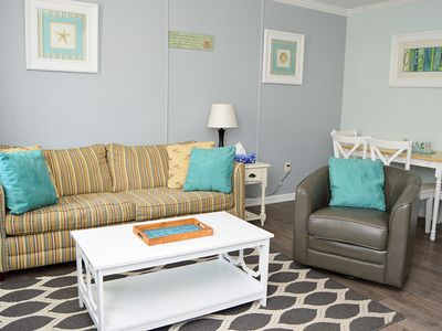 Photo for Just Upgraded! Cute 5th St. Condo w/ Pool - 2.5 Blocks to Boardwalk!