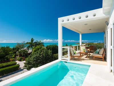 Photo for Villa Blanca : Amazing Ocean Views and Steps to Secluded Taylor Bay Beach
