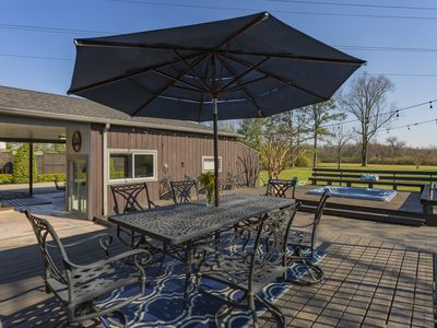 Photo for Nashville Oasis with Best Outdoor Space in Town! Hot Tub, Games, Bar/Kitchen!