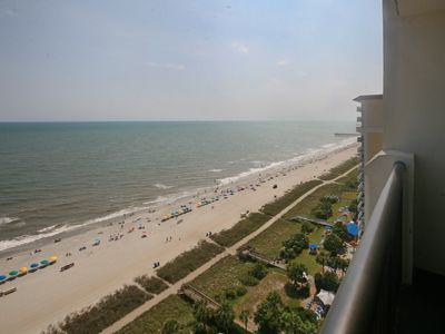 Photo for Stunning views!Direct oceanfront1 bd1ba Breakers Resort pools hot tubs free wifi