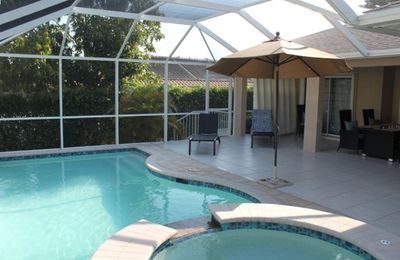 User friendly heated pool and Jacuzzi