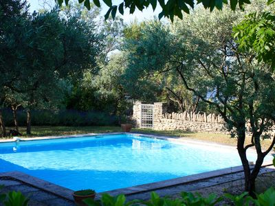 Photo for Charming Villa with Shaded Terrace, Pool and Luberon View