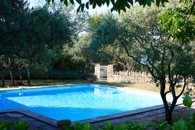 La Garance's refreshing pool and garden