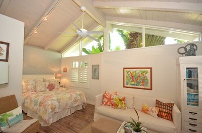 Your Vacation starts with a tropical studio just steps way from Kailua Beach.