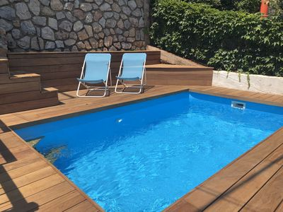 Photo for HYERES THE PALMS F3 PANORAMIC SEA VIEW PORQUEROLLES / SWIMMING POOL / GARAGE